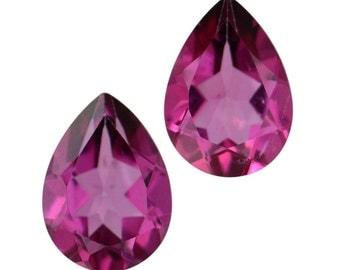 Mystic Magenta Topaz Pear Cut Loose Gemstones Set of 2 1A Quality 7x5mm TGW 1.45 cts.