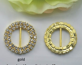 25% off!!! 100pcs gold Invitation Buckles,Wedding Crafts Diamond Invitations, Bling DIY Bridal Invitations Rhinestones,Wedding Bling,A02