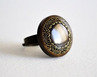 Rings adjustable with button