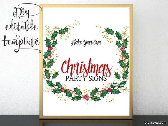 Christmas Grinch Quote 8 X 10 Digital Print Instant By: DIY Printable Sign TEMPLATE For Word. Make