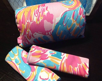 Lilly pulitzer fabric car seat strap covers