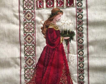 Celtic Christmas by Marilyn Leavitt-Imblum **Completed Counted Cross-Stitch**