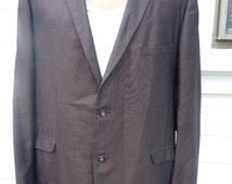 Size XL / 44R  -- Very High-End 1950s Two Button Sharkskin Rockabilly Jacket
