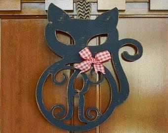 """20"""" Unfinished Cat Monogram"""