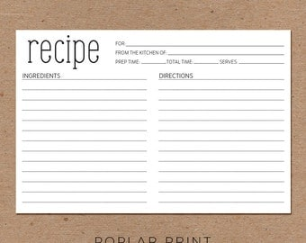 RECIPE CARDS Wedding Kitchen Shower Gift Couples From the Kitchen of  4x6 Elegant Mother's Day Whisk Bride