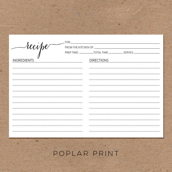 Wedding Gift Recipe Cards : RECIPE CARDS Wedding Kitchen Shower Gift Couples From the Kitchen of ...