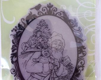 Classic santa rubber stamp