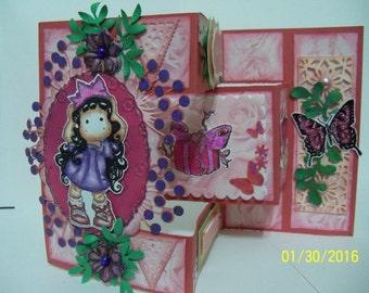Birthday girl shutter greeting card