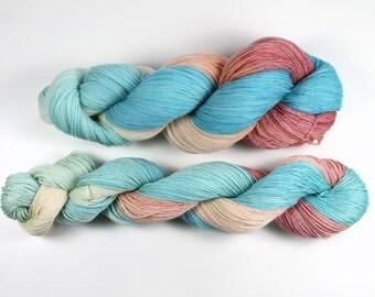 Lace yarn Superwash Merino - Hand-dyed - 100gr/~700m - Caribbean Sunset