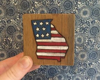 American Flag Georgia
