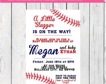 Baseball Baby Shower Invite-***Digital File*** (Baby-baseball)