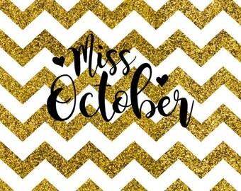 Miss October SVG
