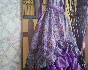 Women's handmade top /women's handmade dress /purple fairy top / fairy dress / Lagenlook top / Lagenlook dress / ruffled dress / ruffled top