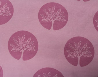 Tree in Pink KNIT by Stenzo Textiles, Premium Euro Cotton - Spandex Jersey Knit, Netherlands