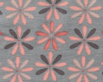 Daisy in Putty Grey KNIT by Stenzo Textiles, Premium Euro Cotton - Spandex Jersey Knit, Netherlands 5534