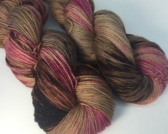 Hand dyed merino nylon sock yarn - Foraging