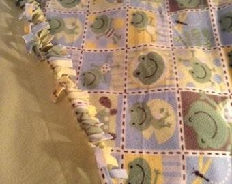 FROGS Tie Fleece Blanket