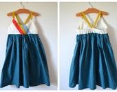 Girl's Sundress, Color-blocked, size 4T,