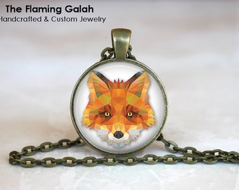 FOX FACE Pendant • Red Fox Face • Geometric Fox Head •Fox Jewellrey • English Country Fox • Gift Under 20 • Made in Australia (P0201)