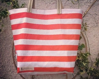 Stripped Beach bag