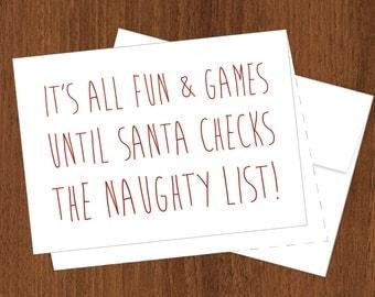 The Naughty List - Funny Christmas Cards - 4bar