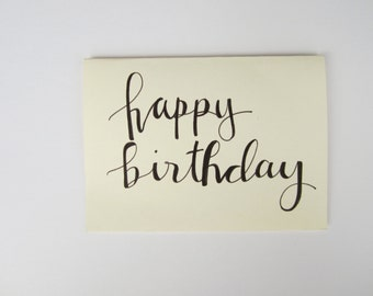 Happy Birthday Card | Calligraphy | Handmade Card | Greeting Card