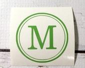 Vinyl Monogram One Initial Decal Single Letter Vinyl Decal