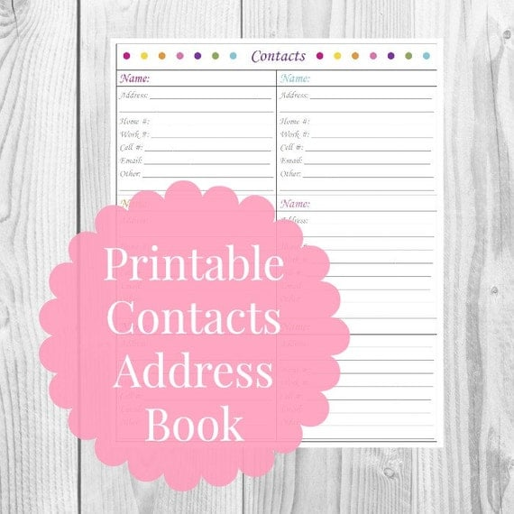 Resource image regarding printable address book free download