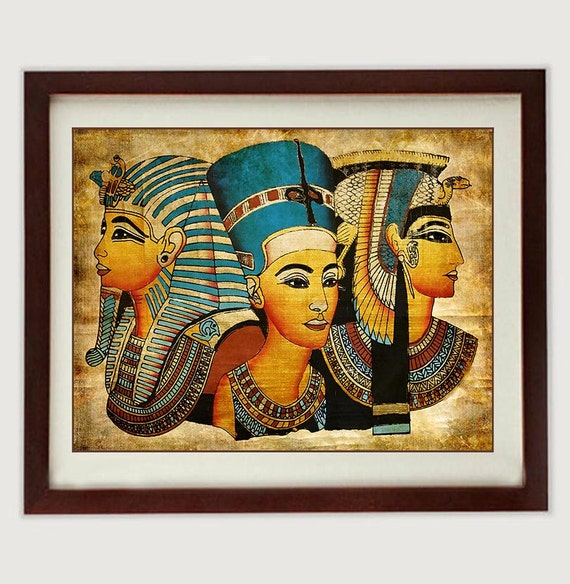 Egyptian King Queen Art Print Tutankhamun Ancient Egypt Wall Art Old  Antique Style Printable INSTANT DOWNLOAD Egypt King Tut Wall Decor
