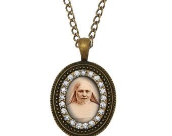 St. Marie Amandine Catholic Necklace. Religious Catholic Pendant. Patron Saint Christian Medal. FREE Shipping