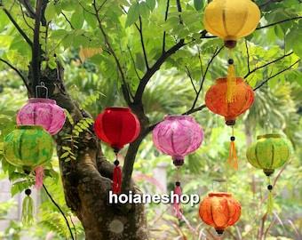 Set Of 16 Pcs Mini Silk Lanterns 10cm Wedding Lanterns Wholesale Silk Lanterns