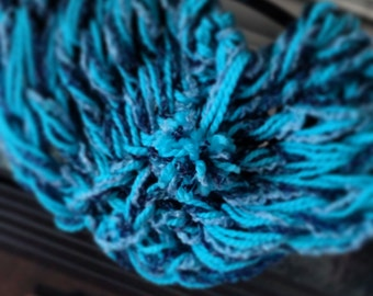 Sea and Sky Pom Cowl