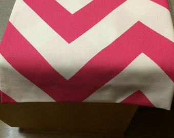 Pink Chunky Chevron Table Runner