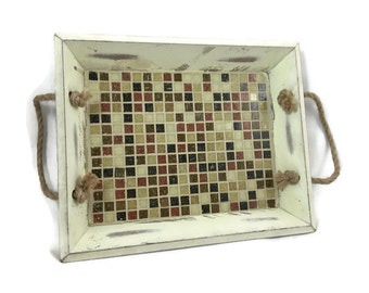 Mini Mosaic Serving Tray in Landscape