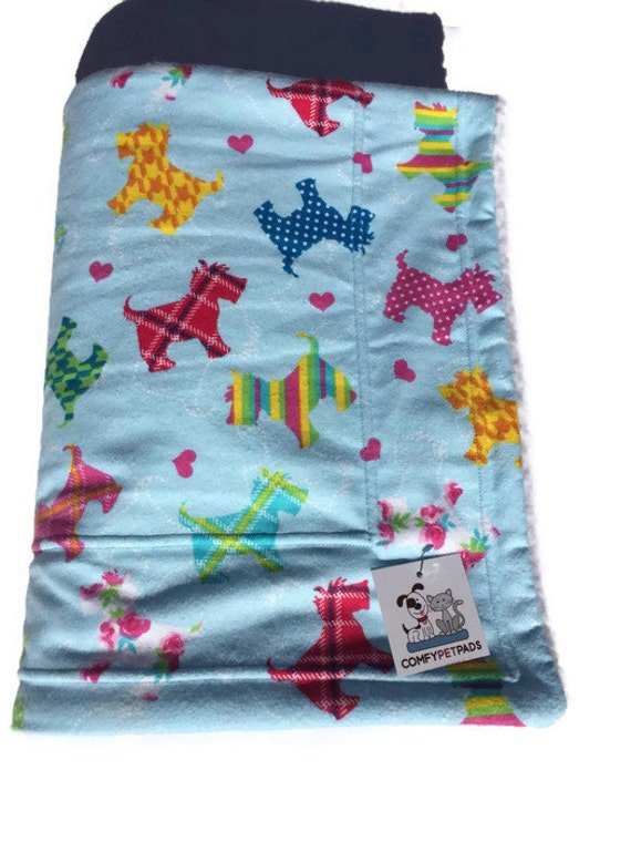 Scottish Terrier Blanket, Scottie Dogs, Pet Blanket, Made in Colorado, Dog Throw, Dog Bed, Scotty Gifts, Stroller Blanket, Wheelchair Cover