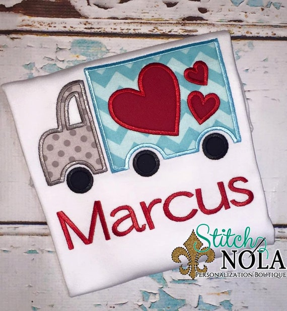 Valentine's Day Truck Shirt, Bodysuit or Gown