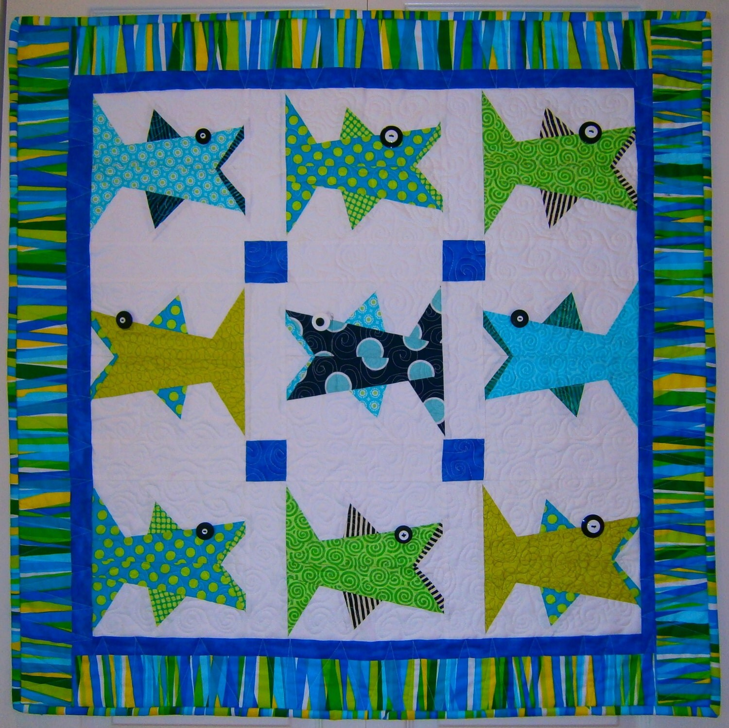 One Fish Paper Pieced Quilt Pattern in PDF from madebymarney on Etsy Studio