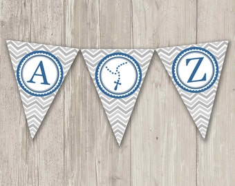Chevron Triangle Banner | Printable Flag Banner with rosary spacer