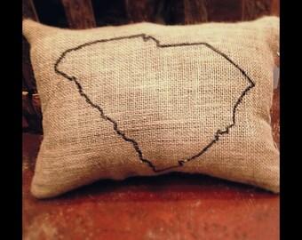 South Carolina Burlap Pillow