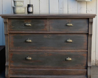 SOLD - Antique dresser 4 drawers !