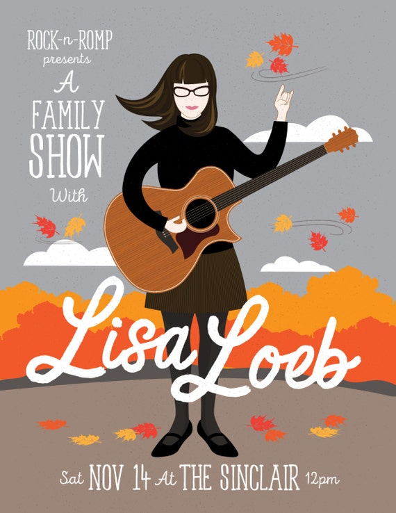 Lisa Loeb Gig Poster, The Sinclair, Cambridge MA