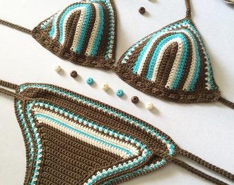 Crochet Bikini - Crochet swimwear - Bikini - Crochet Swimsuit - Swimwear - Crochet Bikini Top - Brazilian Bikini - Boho - Indie - Cheeky