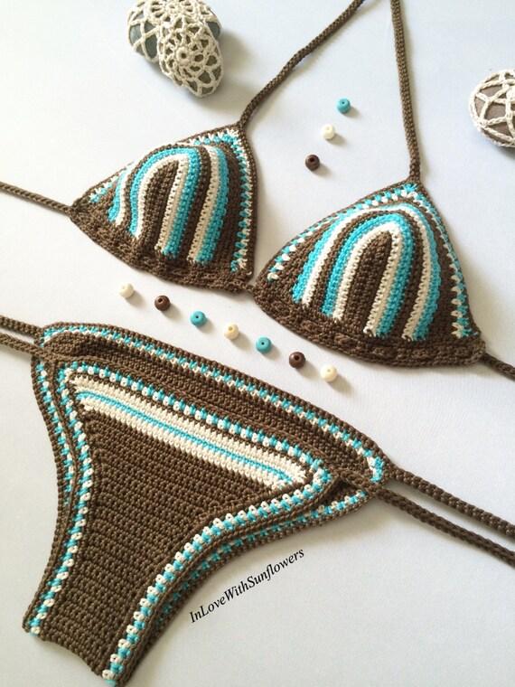 Articoli simili a bikini di uncinetto uncinetto costumi for Articoli da bagno