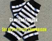 "Legwarmers for Infant - Stripe / Black White (Thin) Leg Warmers - 8"" Long"