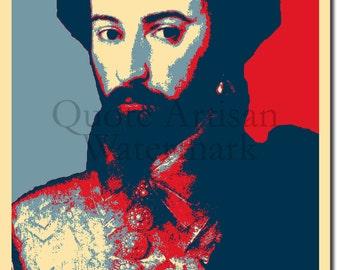 Walter Raleigh Original Art Print - Photo Poster Gift