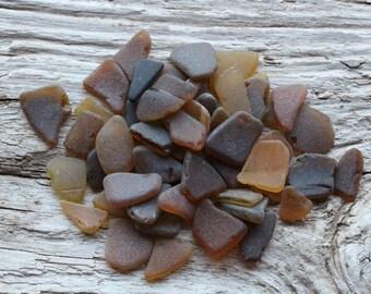 Tiny Brown Beach Glass Tiny Amber Sea Glass