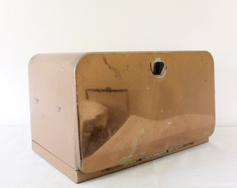 SALE: Vintage Copper Bread Box