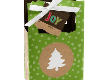 Trim The Tree Favor Boxes - Custom Holiday Party Supplies - Set of 12