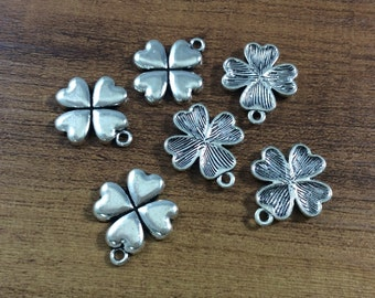 25pcs 19*22mm Four Leaf Clover  Charms  Diy Accessories Gift For Her