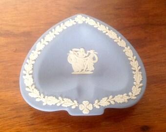 Blue Wedgwood Spade Shaped Dish. 1970's